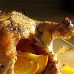 American Roast Chicken to the Orange Appetizer