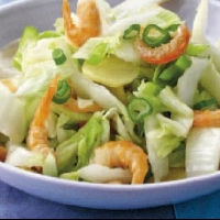 Stir-fried Chinese Celery Cabbage with Dried Shrimp recipe