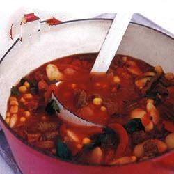 American South American Paprika Soup with Beef and Veal Appetizer
