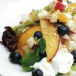 American Summer Fruit or Salad with Flavor Spreads Based Appetizer