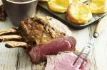 American Roast Rib Of Beef And The Bestever Yorkshire Puddings Recipe Dinner