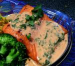 American In a Heartbeat Atlantic Salmon With Red Curry Coconut Sauce Dinner
