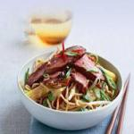 Thai Noodle Salad with Ginger Duck and Spicy Peanut Dressing Dinner