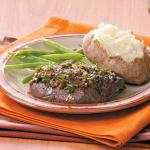 American Saucy Tenderloin Skillet Steaks Appetizer