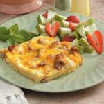 American Sausage and Cheddar Breakfast Casserole Appetizer