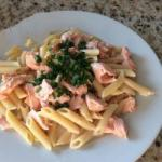 American Flavored Penne Fresh Salmon Dinner