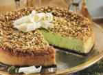 American White Chocolate Pistachio Cheesecake Dessert