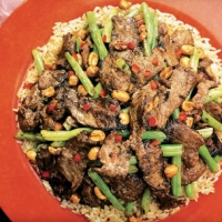 Chinese Ginger Beef with Green Beans Appetizer