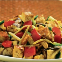 Chinese Stir-fry Sweet-and-sour Tofu Dinner