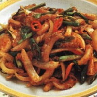 Korean Stir-Fried Octopus Appetizer