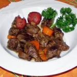 American Goulash of Deer Appetizer