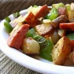 American Kielbasa with Peppers and Potatoes Recipe Appetizer