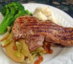 American Pork Chops With Cabbage and Apples Appetizer