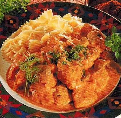 American Chicken In Mushroom And Paprika Sauce Dinner