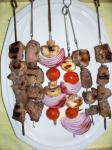 American Kittencals Greek Souvlaki grilled Skewered Lamb or Pork Dinner
