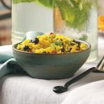 American Yellow Rice and Black Bean Salad Dinner