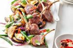 Canadian Lamb Cutlets With Eggplant Basil Fryup And Quick Chilli Pickle Recipe Appetizer