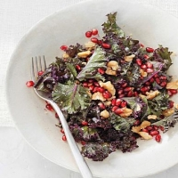 Russian Raw Kale Salad with Pomegranate and Toasted Walnuts Appetizer