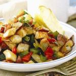 American Tanned Potatoes with Poached Chicken Appetizer
