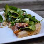American Fig Prosciutto Gorgonzola Pizza Topped With Balsamic Arugula Salad Dinner