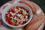American Roasted Tomatoes With Shrimp and Feta Dinner