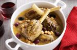 Moroccan Lamb Shanks With Lemon Chickpeas And Olives Recipe Appetizer