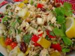 American Macrinas Orzo Salad With Cucumber Bell Pepper Basil and Feta Dinner