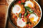 American Spicy Rice And Sweet Potato Biryani With Baked Eggs Recipe Appetizer