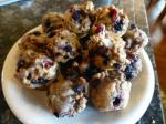 American Low Fat Blueberry Cranberry Bran Muffins Breakfast