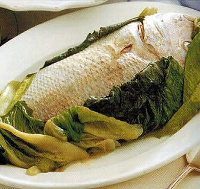 American Poached Whole Snapper Appetizer