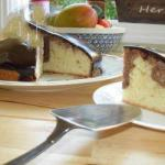 American Marble Cake with Chocolate Glaze Dessert