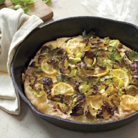 Monaco Brussels Sprout and Lemon Skillet Pizza Appetizer