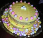 Canadian Raspberry  Lemon Spring  Easter Cake Dessert