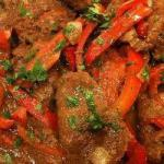 American Stirfry with Beef and Sweet Pepper Appetizer