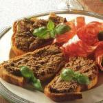 American Crostini with Liver Paste Appetizer
