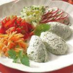 American Fresh Cheese Mousse with Herbs Appetizer