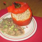 American Peppers Stuffed with Mushroom Sauce Appetizer