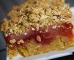 Chinese Rhubarb and Strawberry Bar cookie Dessert