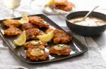 Australian Crab Fritters With Remoulade Sauce Recipe Appetizer