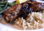 American Balsamic Chicken Thighs with Red Onions Appetizer