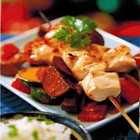 Thai Gingered Chicken Kabobs BBQ Grill
