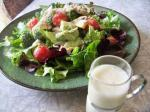 American Super Veggie Salad With Creamy Almond Dressing Appetizer