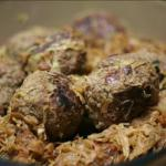 German German Meatballs with Red Cabbage Appetizer