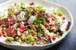 British Lamb Burghul And Pomegranate Salad Recipe Appetizer
