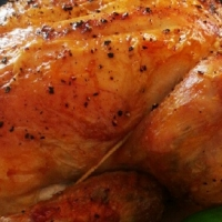 American Barbecued Roast Chicken Dinner