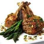 American Spiced Lamb Rack with Pistachio Dukkah Drink