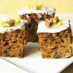 American Carrot Cake with Traditional Cream Cheese Coverage Appetizer