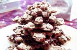 American Choc Fruit And Nut Christmas Tree Recipe Dessert