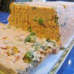 French Terrine of Salmon and Peas Appetizer