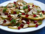 Iranian/Persian Pomegranate Pear Salad Dessert